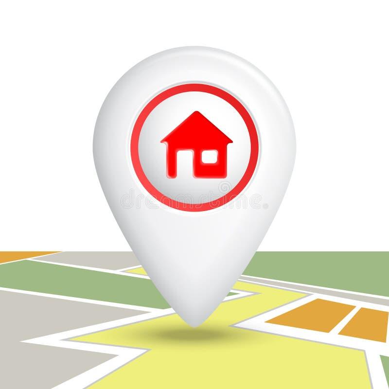 Download Домашний Pin значка иллюстрация вектора. иллюстрации насчитывающей перемещение - 41657710