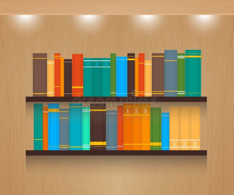 Домашняя библиотека иллюстрация штока
