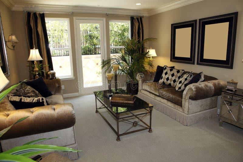домашняя живущая роскошная комната стоковая фотография rf