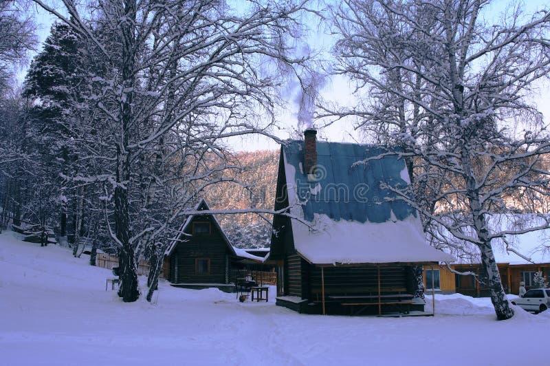 домашняя зима стоковая фотография rf