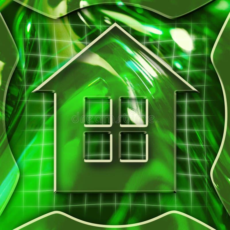 Домашняя икона стоковое изображение