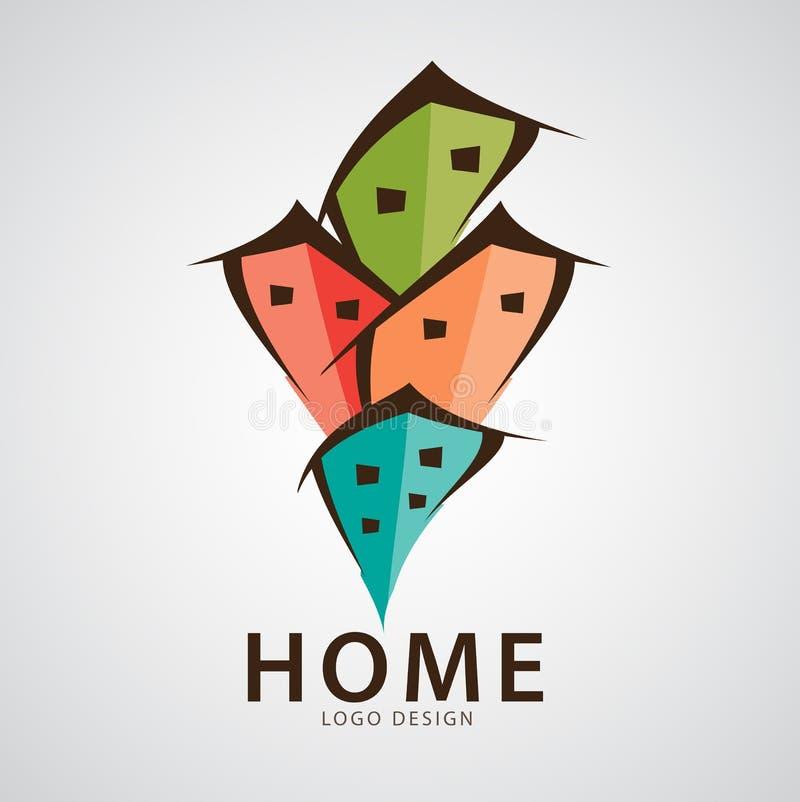Домашняя иллюстрация вектора дизайна логотипа, значок сети, знак экологичности, логотип дома, иллюстрация вектора