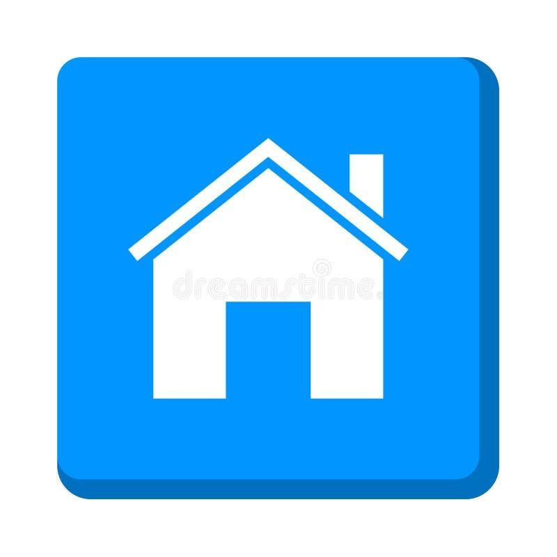 Домашняя кнопка значка иллюстрация вектора