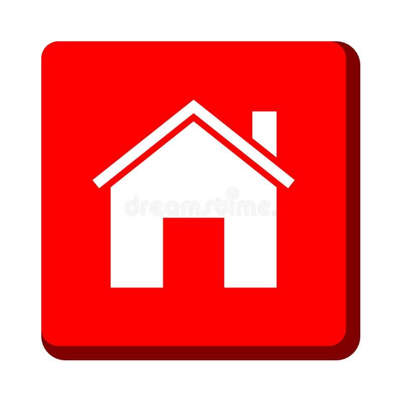 Домашняя кнопка значка бесплатная иллюстрация