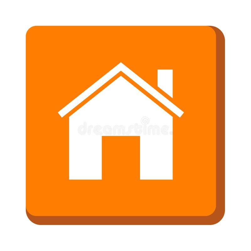 Домашняя кнопка значка иллюстрация штока