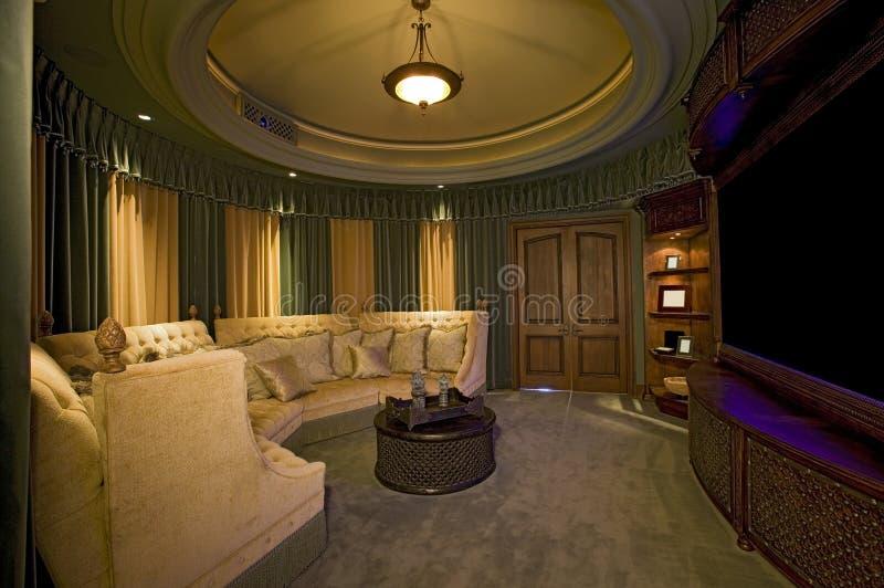 Домашняя комната кино стоковые изображения
