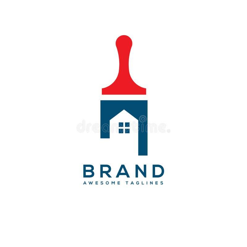 Домашняя концепция логотипа обслуживания картины недвижимости иллюстрация штока