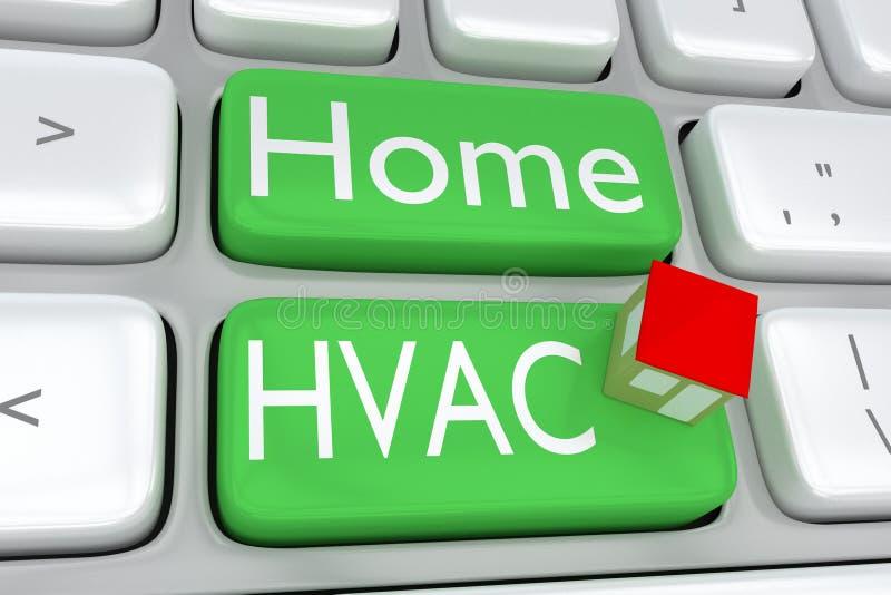 Домашняя концепция HVAC бесплатная иллюстрация