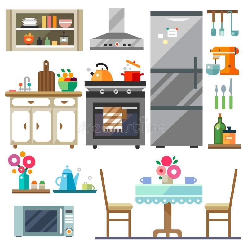 Домашняя мебель иллюстрация штока