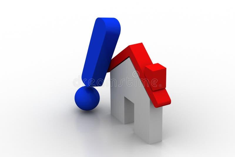 Домашняя модель с восклицательным знаком бесплатная иллюстрация