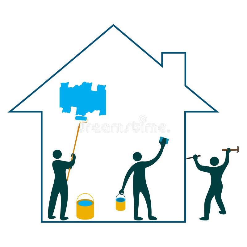 домашняя реновация иллюстрация штока
