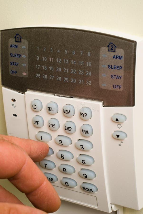 домашняя система безопасности стоковое изображение rf