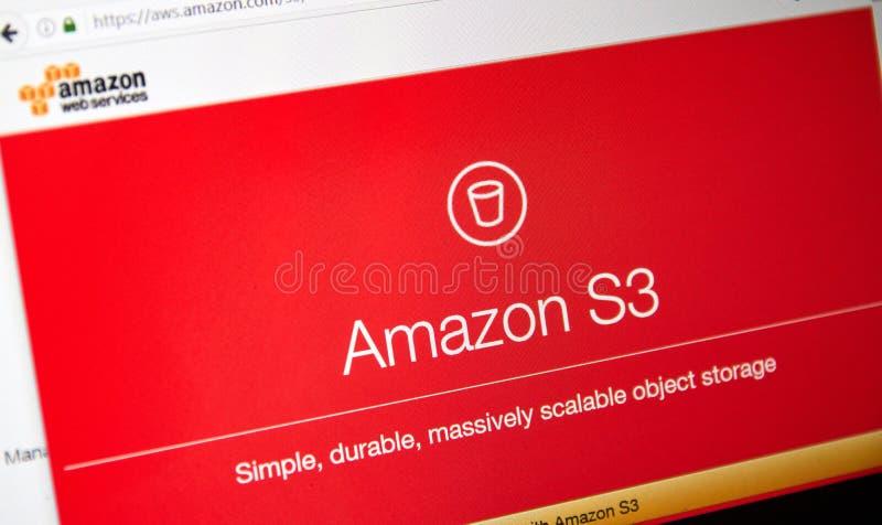 Домашняя страница веб-служб Амазонки стоковые фотографии rf