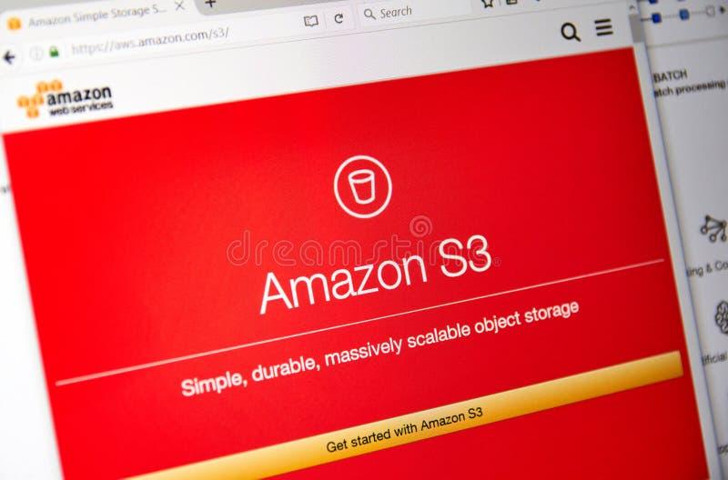 Домашняя страница веб-служб Амазонки стоковая фотография rf