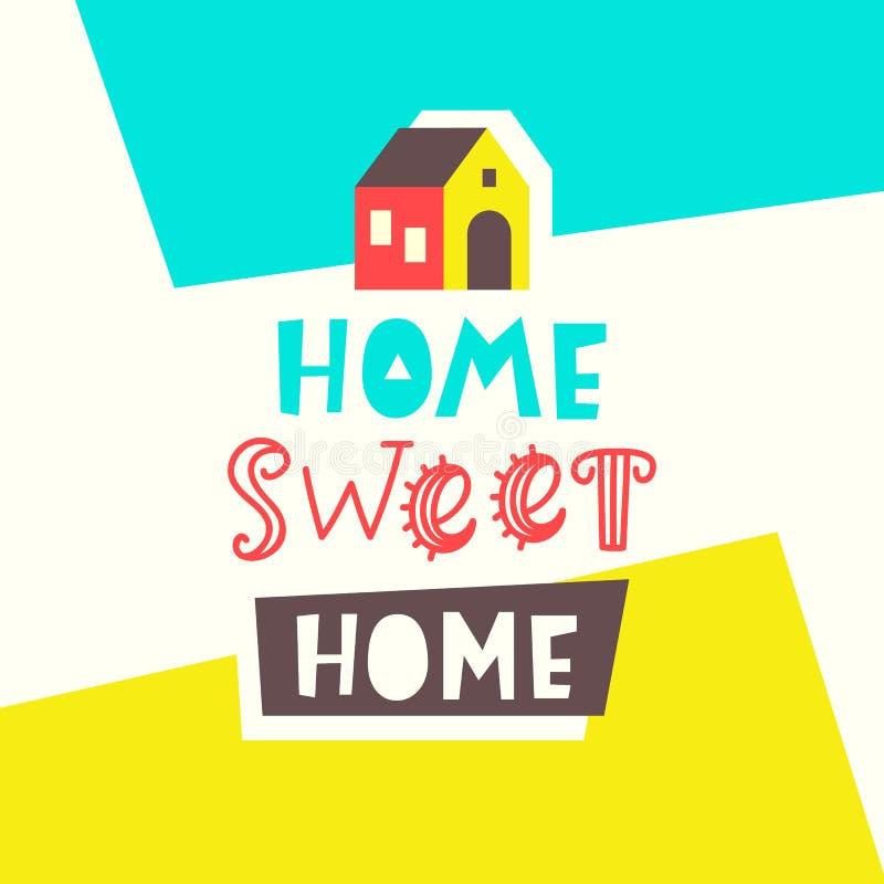 Домашняя сладостная домашняя карточка Дизайн плаката оформления иллюстрация штока
