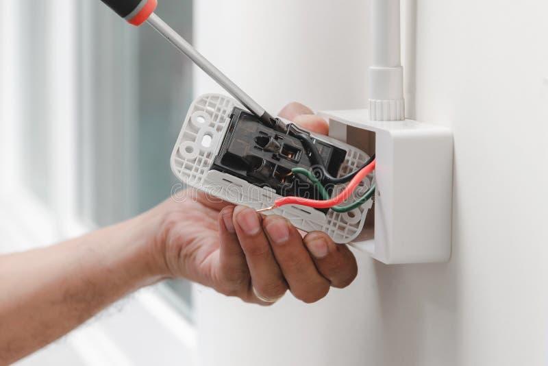 Домашняя электрическая система стоковая фотография rf