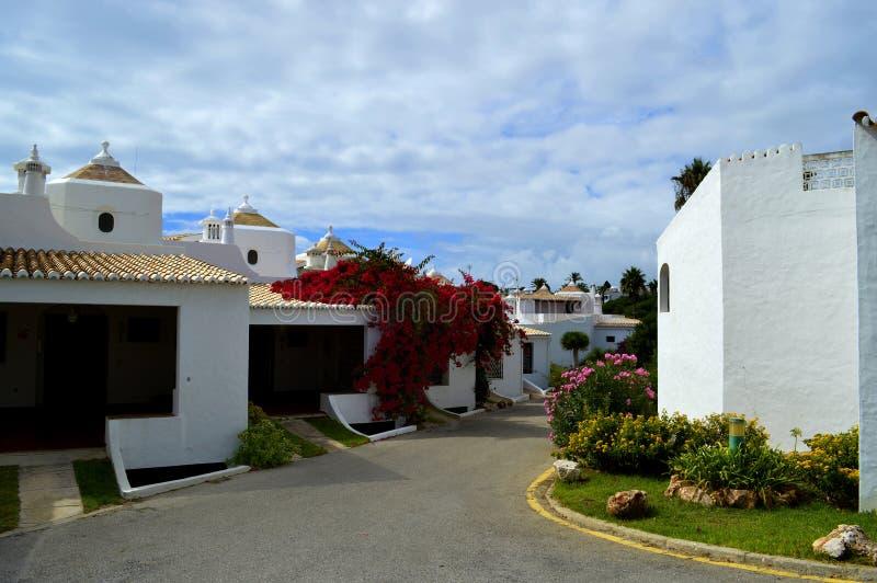 Дома в деревне Armacao De Pera стоковая фотография rf
