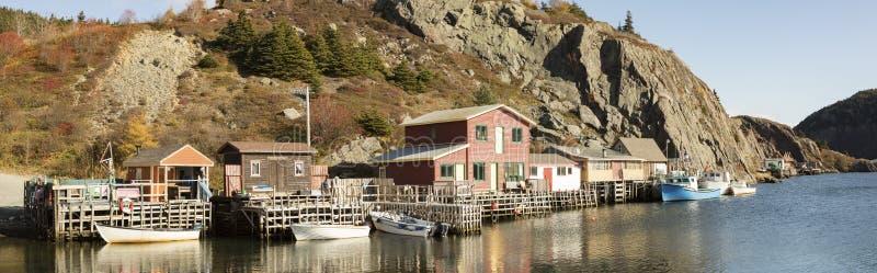 Дома в исторической деревне Quidi Vidi, St. Johns, Ньюфаундленд, стоковые фото