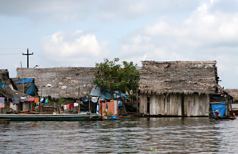 Дома в Belen - Перу стоковые фотографии rf