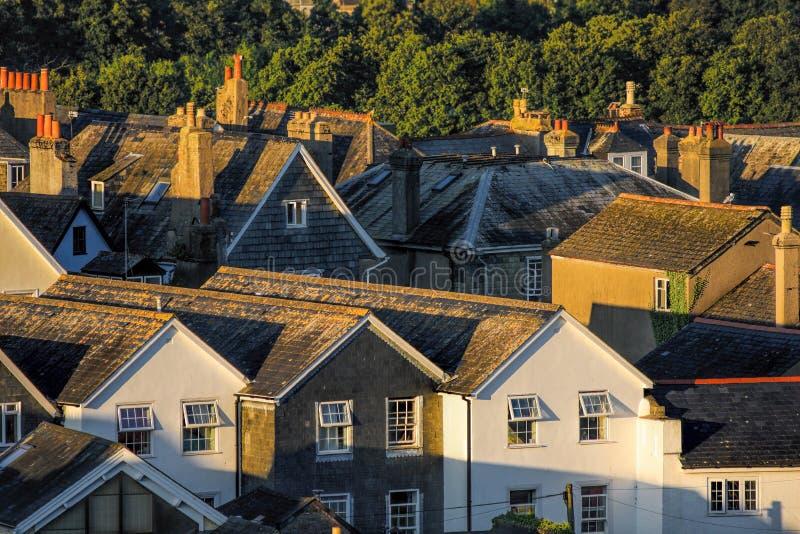 Дома в Totnes, Англии, Великобритании стоковые изображения rf