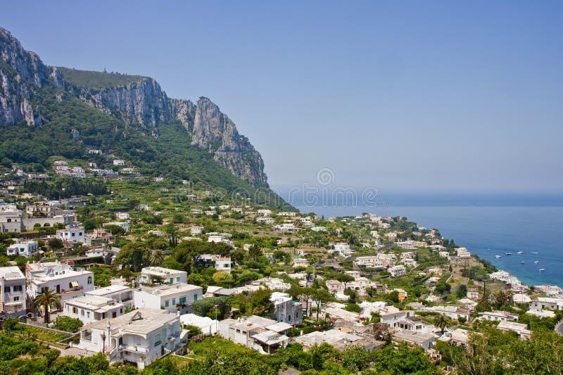 дома горного склона capri стоковое изображение rf
