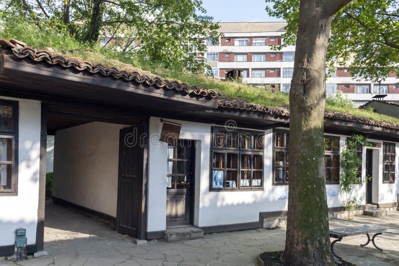 Дома девятнадцатого века на старом городке в центре города Dobrich, Болгарии стоковое фото