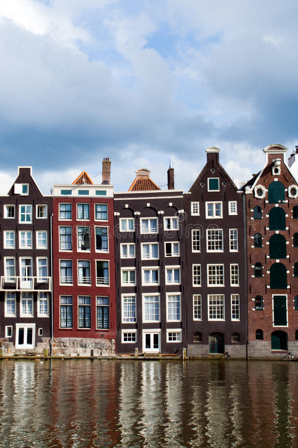 дома канала amsterdam стоковое фото