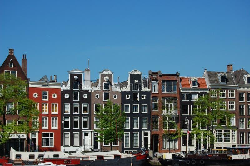 дома канала amsterdam стоковое фото rf