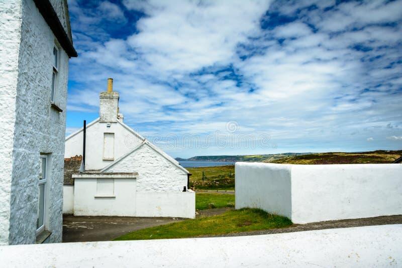 Дома конца земель стоковая фотография