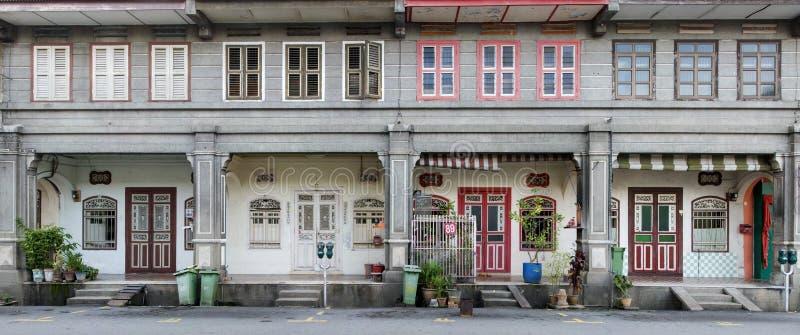 Дома наследия, городок Джордж, Penang, Малайзия стоковая фотография