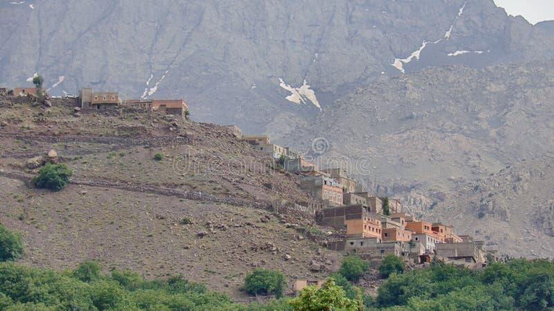 Дома на горном склоне стоковое изображение
