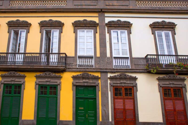 Дома Las Palmas de Gran Canaria Vegueta стоковое изображение