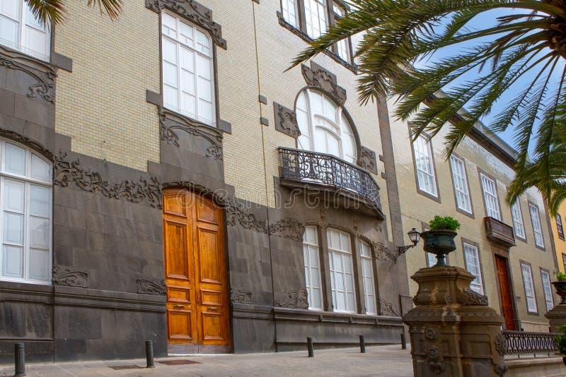 Дома Las Palmas de Gran Canaria Veguetal стоковое фото