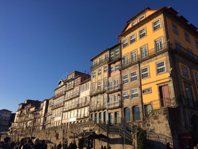 Дома Ribeira стоковое изображение