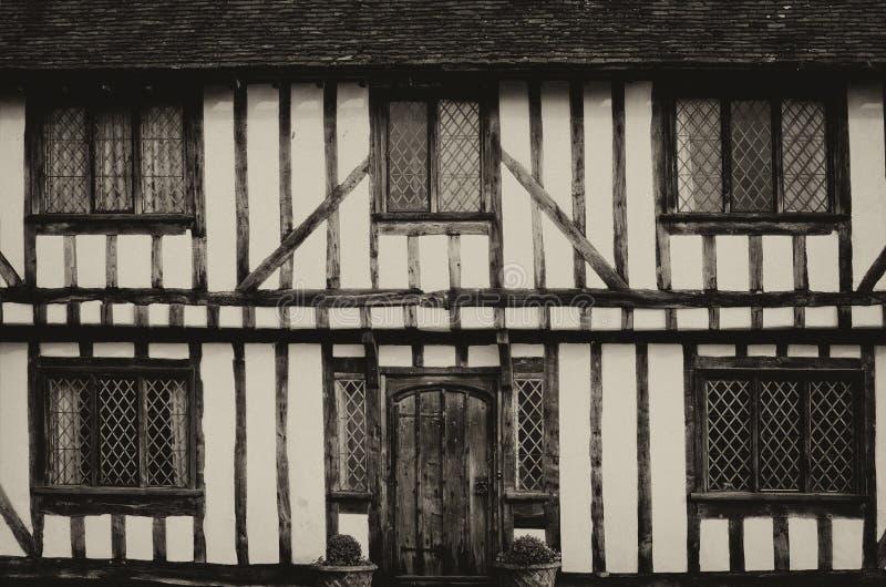 Дома Tudor английского языка стоковое фото rf