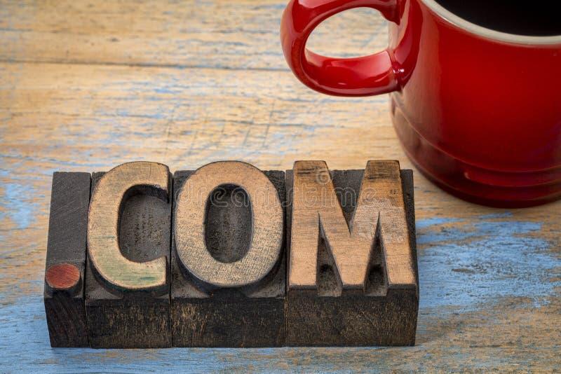 Домен интернета дела .com стоковые фотографии rf