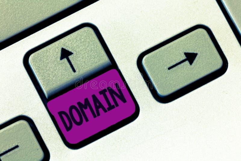 Домен текста сочинительства слова Концепция дела для определенного подмножества интернета при адреса деля общий суффикс стоковое изображение rf