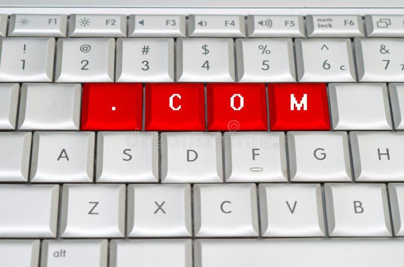 Домен .com высшего уровня интернета стоковая фотография rf