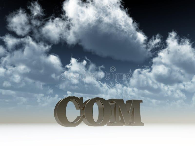 домен com иллюстрация штока