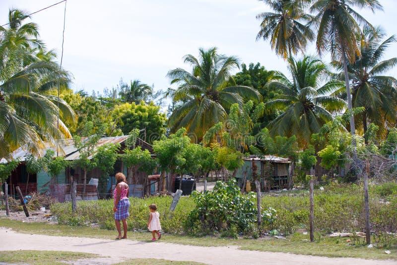 Доминиканская Республика, карибское море, остров Saona, вилла Mano Хуана стоковое изображение rf