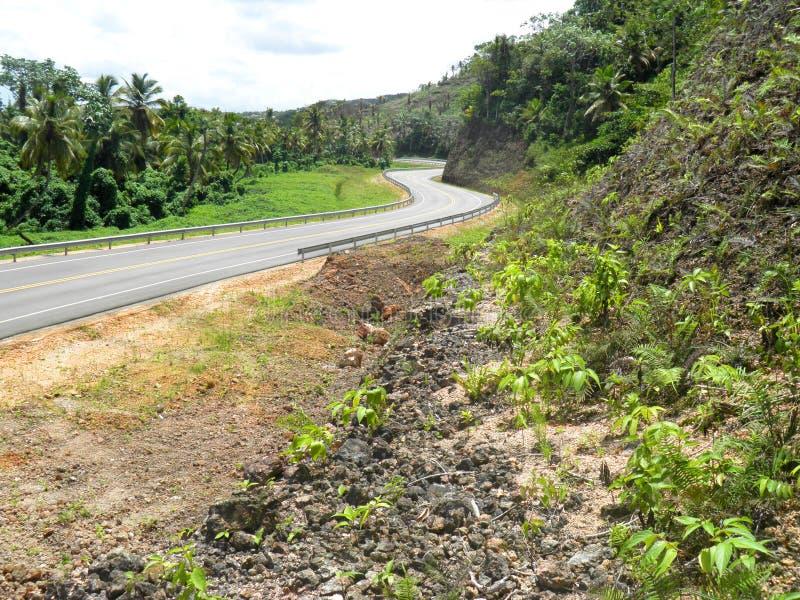 Доминиканская Республика шоссе Carretera Хуана pablo II стоковые фотографии rf