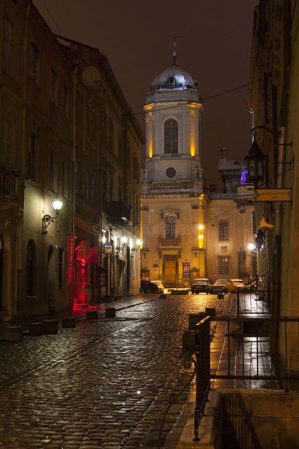 Доминиканские церковь и монастырь в Львове стоковые изображения rf