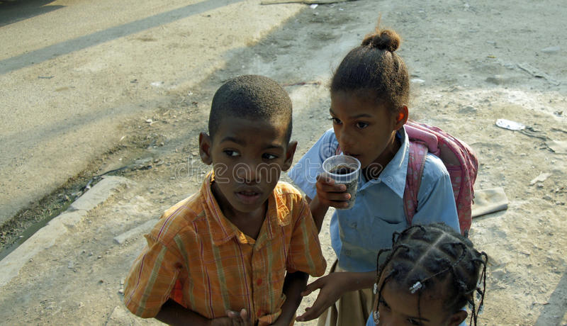 Доминиканский ребенок стоковая фотография