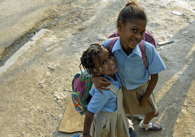 Доминиканский ребенок стоковые фото
