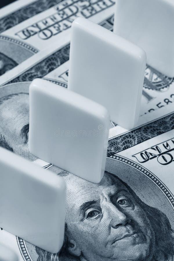 домино доллара мы стоковые изображения