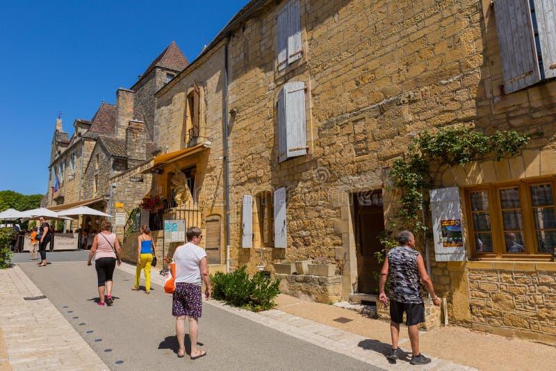 Домме, Дордонь, Франция стоковое изображение rf