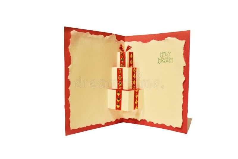 Домодельная рождественская открытка стоковое фото rf