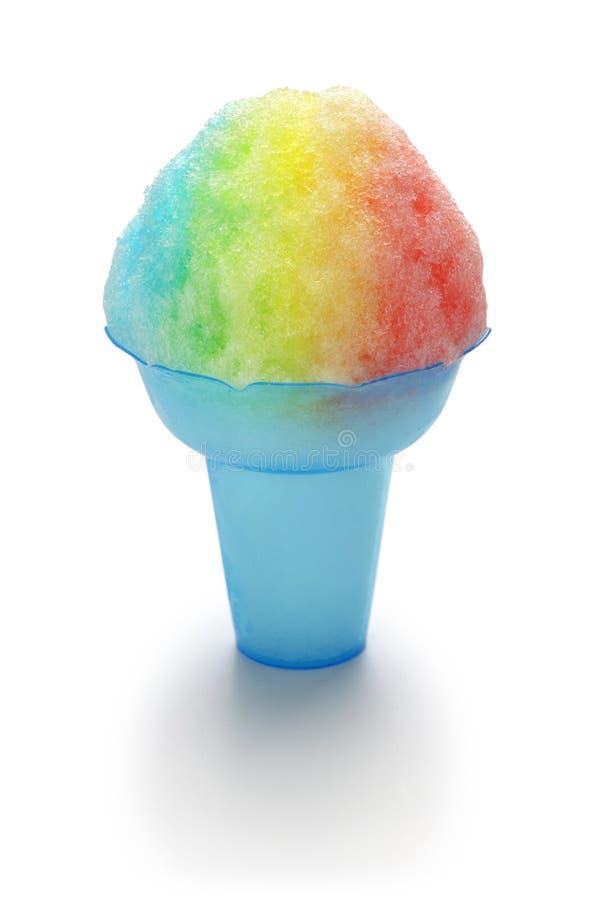Домодельной гавайской лед побритый радугой стоковое изображение rf