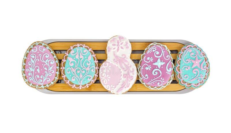 Домодельные печенья в форме пряника 8 на Международный женский день стоковые фотографии rf