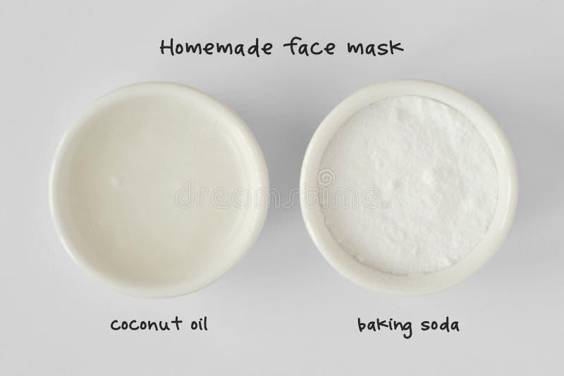 Домодельный лицевой щиток гермошлема сделанный из кокосового масла и пищевой соды стоковое фото